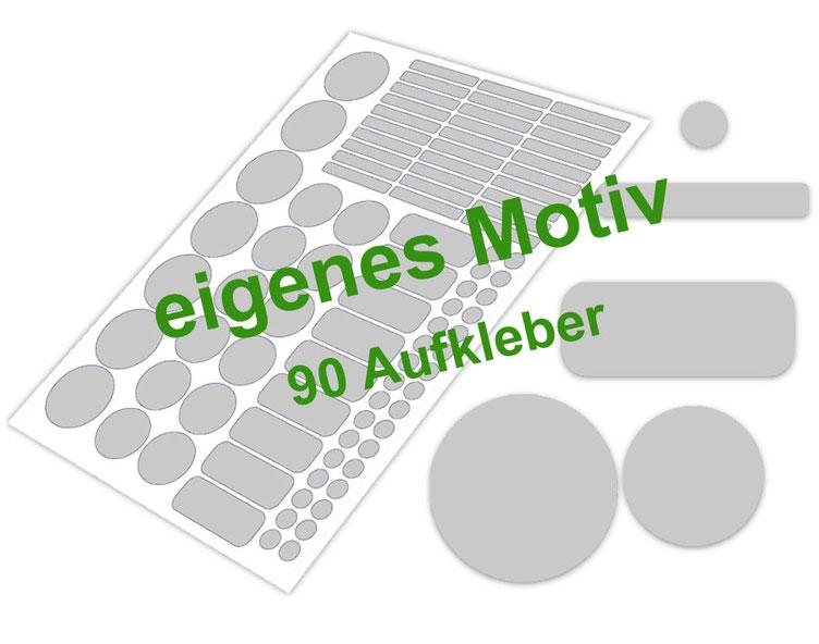 Schulstarter-Set - Motiv: eigenes Motiv - verschiedene Namensaufkleber, Stifteaufkleber, Mini Dots Aufkleber, hochwertige, umweltfreundliche PVC-freie Folie