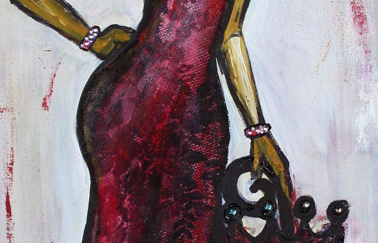 Detailansicht - Gemälde 70x100x2 hochformat