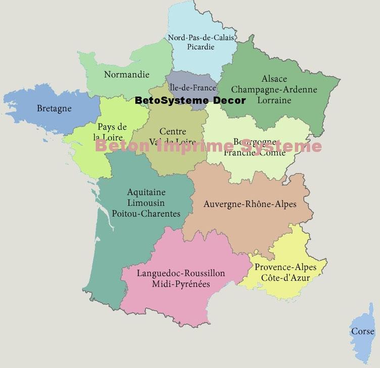 Béton imprimé île de France et partout en France