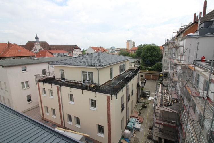Die Baustelle von oben.