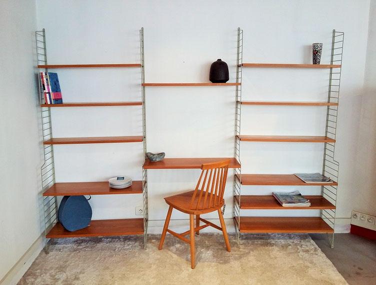 Étagère bibliothèque String vintage