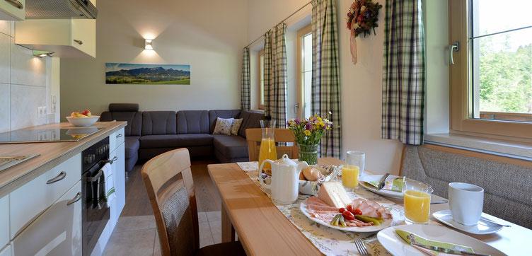 Wohnküche Ferienwohnung am Buchberg bei Ebbs