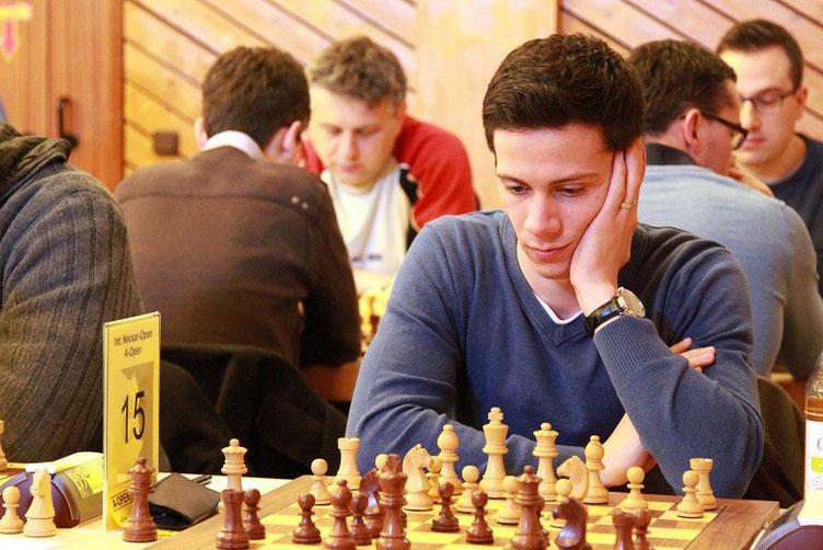 Nikolas Lubbe beim 19. Internationalen Neckar-Open 2015