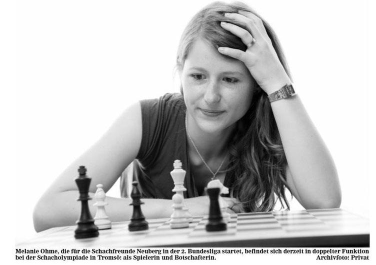 Melanie Lubbe (geb Ohme) im Hanauer Anzeiger, August 2014