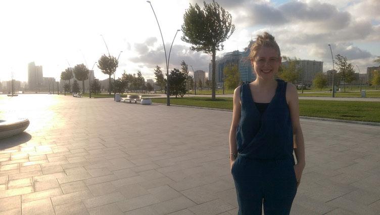 Melanie Lubbe bei der Schacholympiade 2016 in Baku