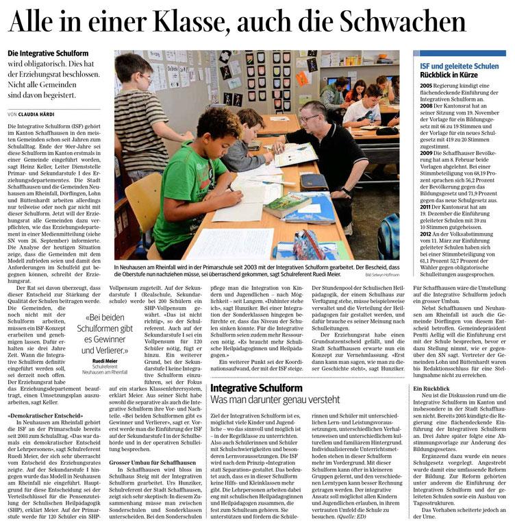 Quelle: Schaffhauser Nachrichten, 3. Oktober 2015