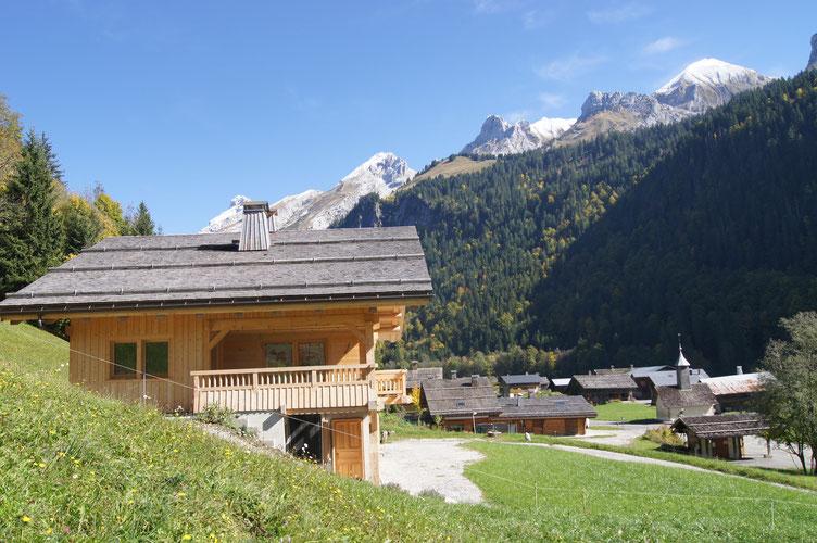 Chalet à la montagne proche pistes de ski alpin, ski de fond,  randonnées, golf,