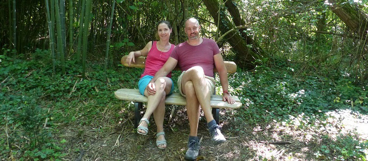 Helene et Alexis Marechal, propriétaires des Gites des Camparros à Nailloux