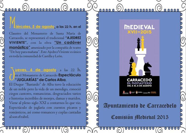 Programa de Carracedelo Medieval