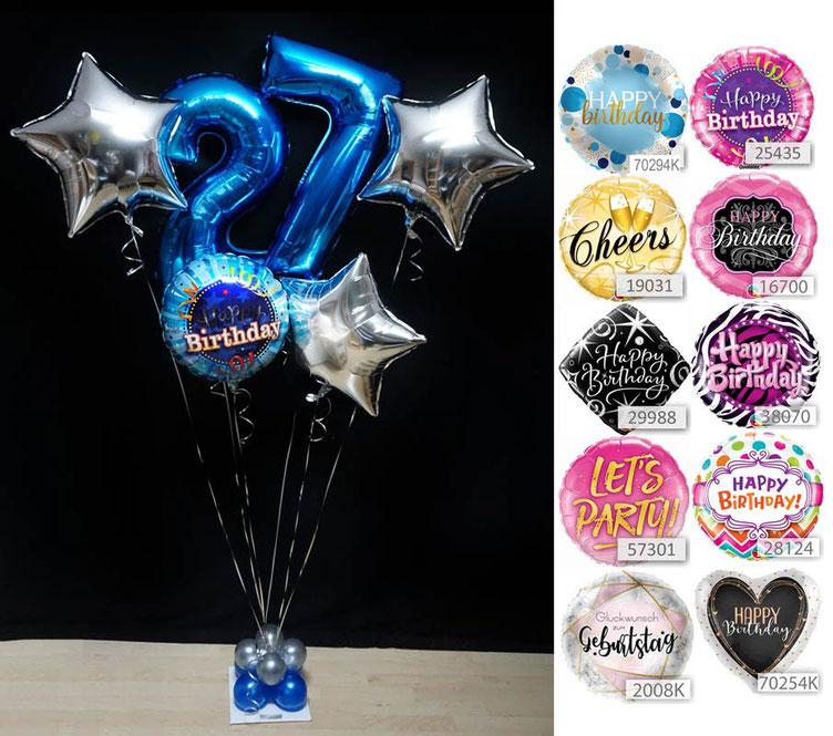Ballon Luftballon Heliumballon Deko Dekoration Überraschung Mitbringsel Ballonpost Ballongruß Versand verschicken rosa blau Geburtstag happy birthday Geschenk Idee Ballonpost Bouquet cheers lets party Sterne