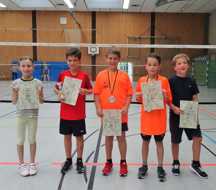 v.l.n.r.: Paulina Buchfink, Jakob Götz, Niklas Stern, Ben Sommer, Paul Gadinger
