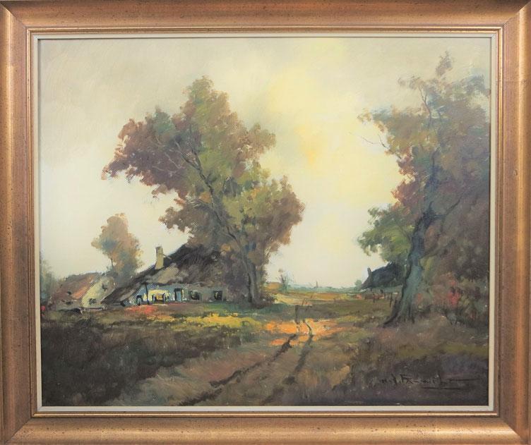 te_koop_aangeboden_een_landschaps_schilderij_van_de_belgische_kunstschilder_henri_joseph_pauwels_1903-1983_post_impressionist