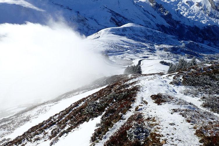 La brume revient sur le Soulor...