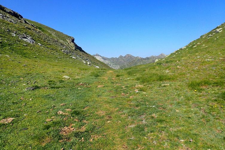 Le Col de Cardal. Frontière espagnole.