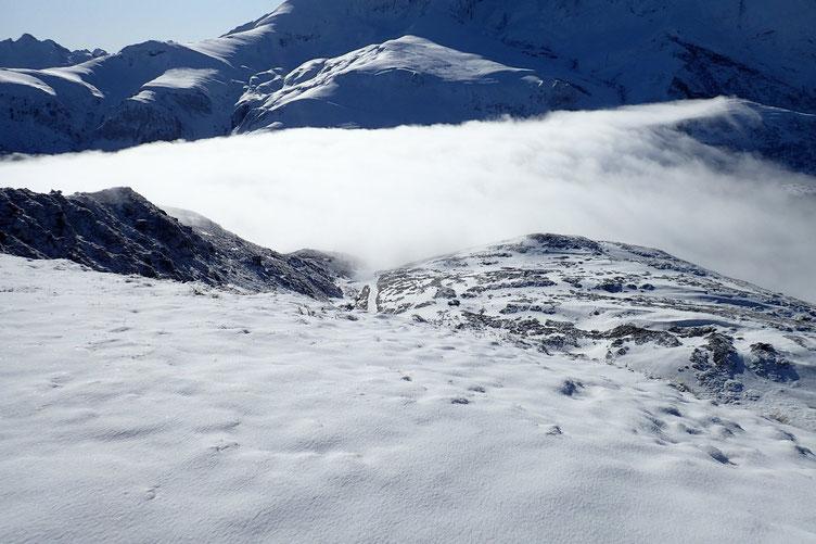 Le Col du Soulor est dans la brume.