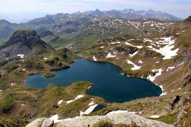 Le Lac Bersau, le plus haut des lacs d'Ayous.