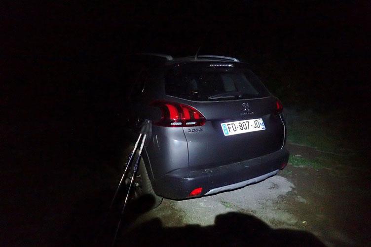 Espagne, parking de l'Embalse de la Sarra, au tout petit matin...