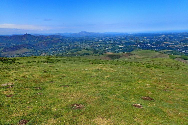 Le Pays Basque vers La Rhune.
