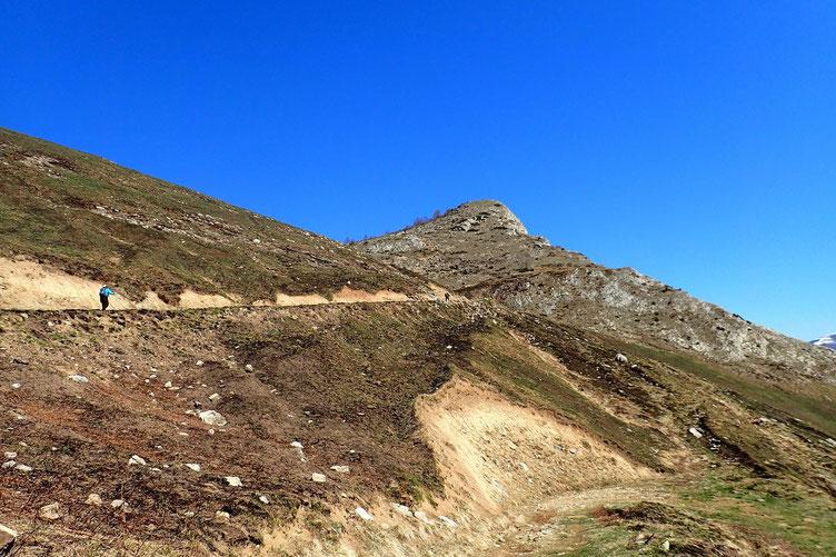 Petit coup d'oeil vers le Pic de Peyre.