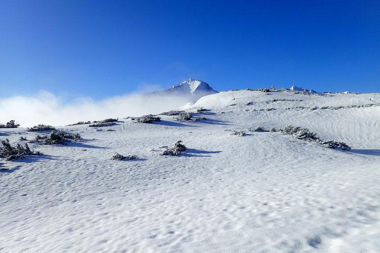 Et petite pause... pour admirer le paysage (le Gabizos), et observer la brume qui monte... qui monte...