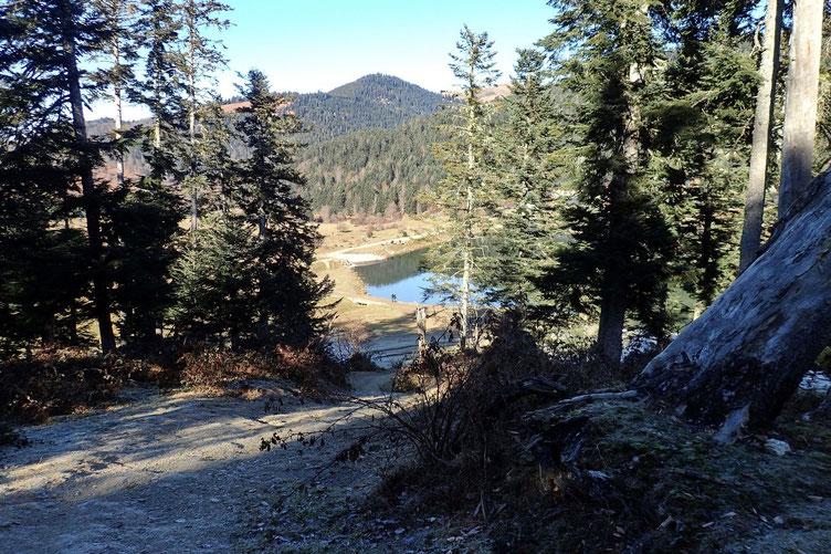Et arrivée sur le Lac de Payolle.