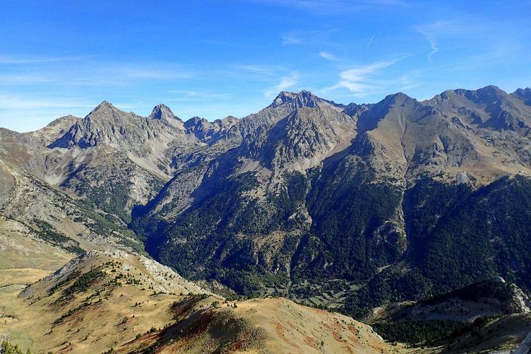 Le vallon qui monte au Lac de Respomuso.