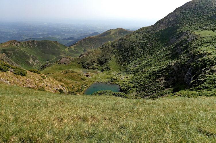 Vue sur les lacs de Montaigu.