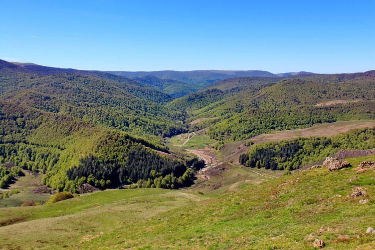 Vue sur les Pyrénées Basques.