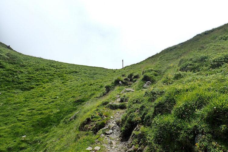 Le Col d'Arbaze. Peu de visibilité.