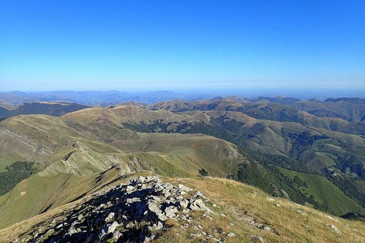 Vue vers le Pays Basque.