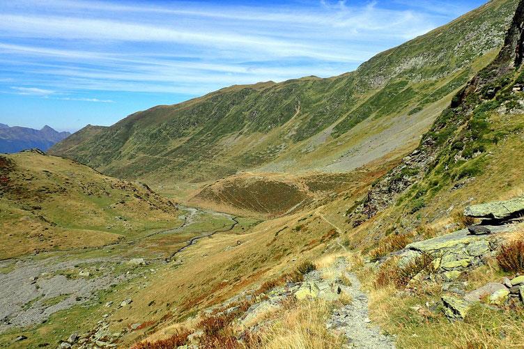 Et la descente tranquille dans la vallée.
