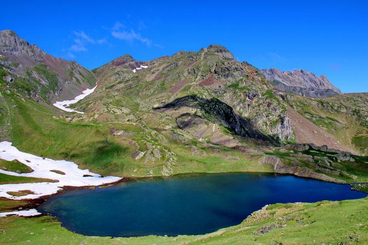 Du col, vue sur le Lac du Lavedan...