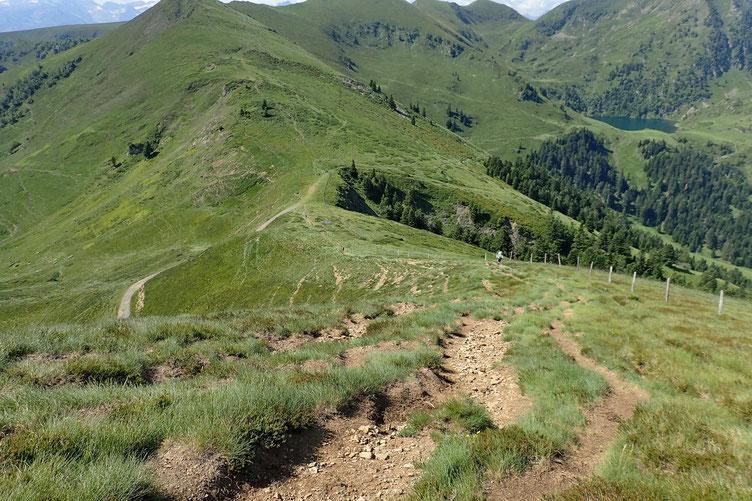 Passage un peu plus pentu vers le Col de Pierrefite.