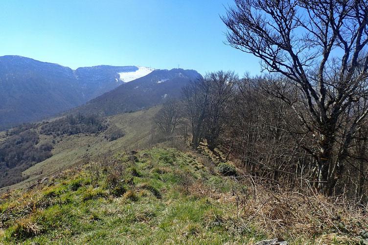 Arrivée au Pic de Taulemale, avec pause casse-croute et vue sur le massif du Pibeste.