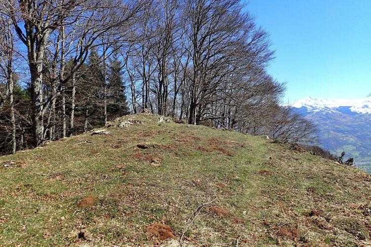 Après un petit casse-croute, je quitte le Pic d'Arragnat.