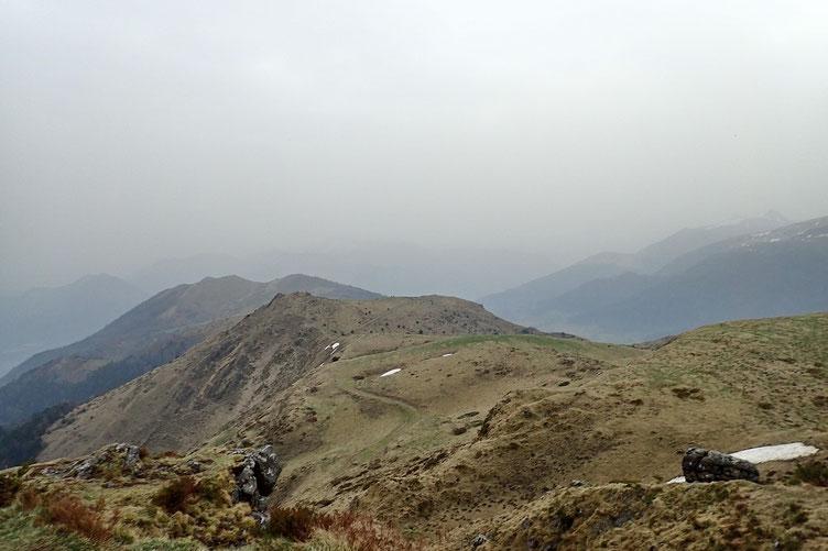 La crête jusqu'au Pic Barsaut.