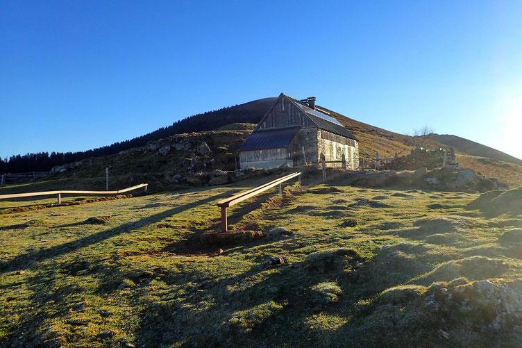 Le Pic de Montaut est juste derrière la cabane.