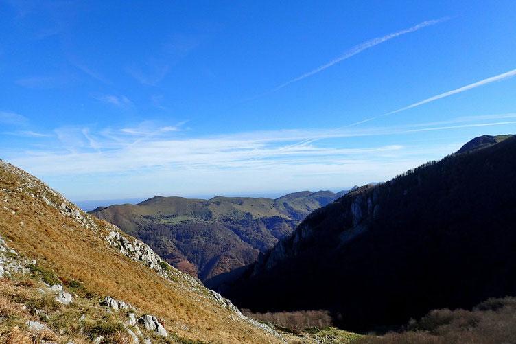 Du Col d'Andurte, vue derrière moi avec le Mail Arrouy.