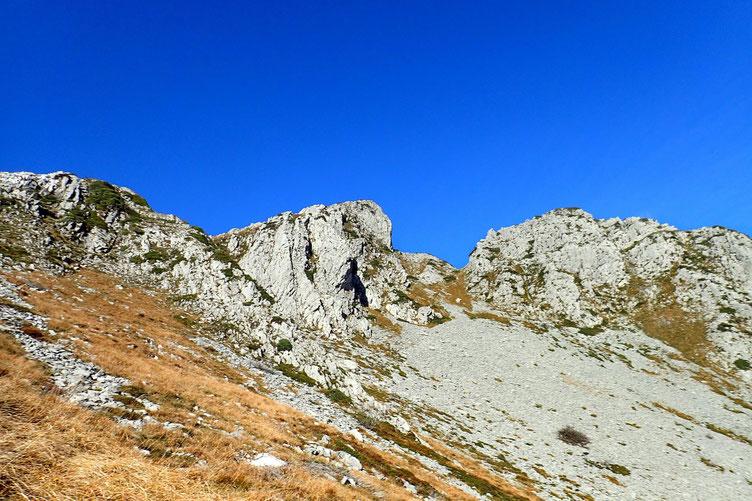 Vue sur la partie Nord du Pic Roumendares.