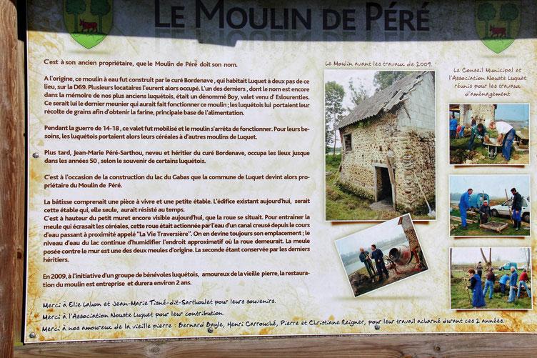 Toute l'histoire de ce moulin est raconté sur cette pancarte.