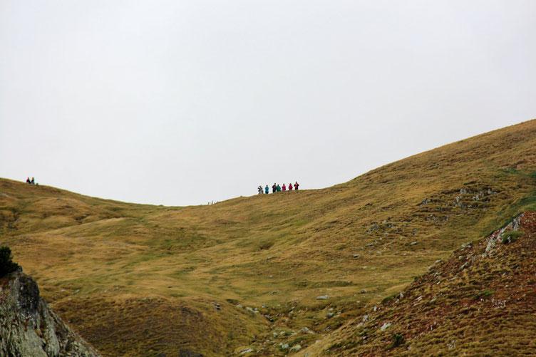 """D'ailleurs quelques """"touristes"""" espagnols"""" sont venu admirer le paysage. Ils sont montés avec le télésiège de la station de ski."""