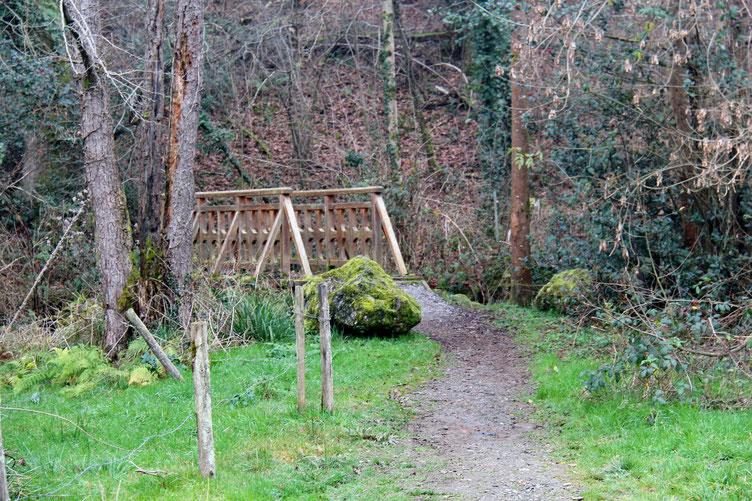 Un dernier petit pont de bois au dessus de l'Hoursoumou.