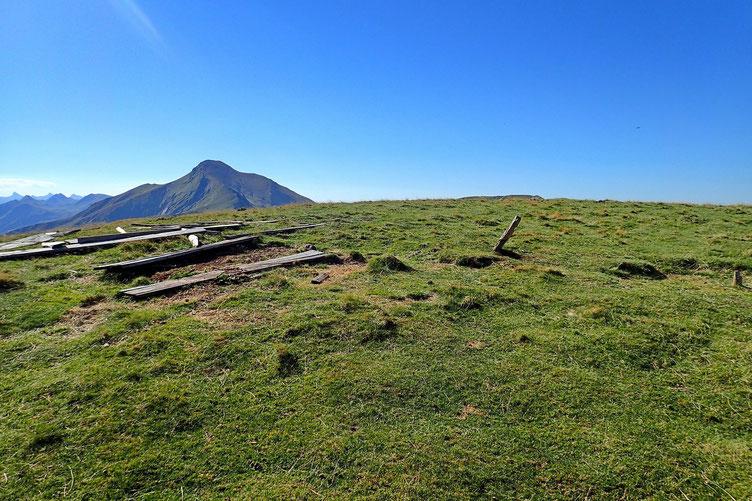 Montée vers l' Odeizügagna, avec plein d'anciennes palombières