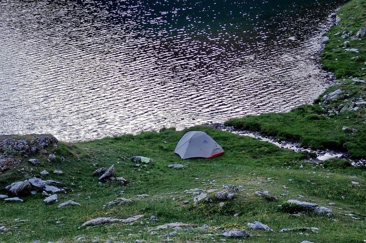 La tente...