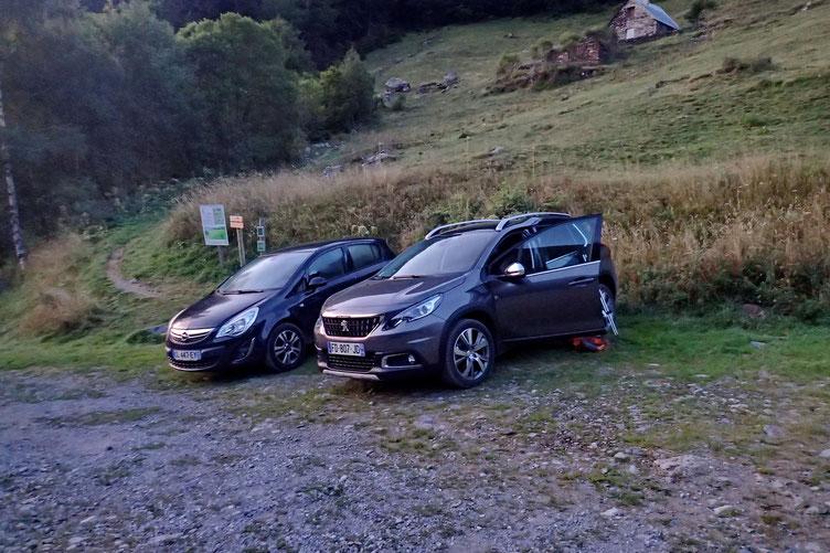 Parking à Bué, au dessus de Pragnères