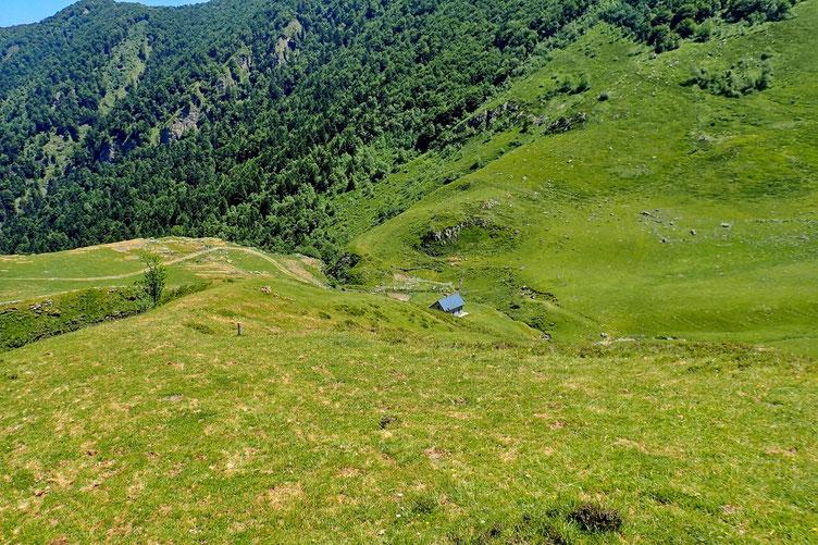 La Cabane d'Ibech toujours aussi peu active. Je n'ai pas vu un seul mouton, une seule vache. Même pas un randonneur.
