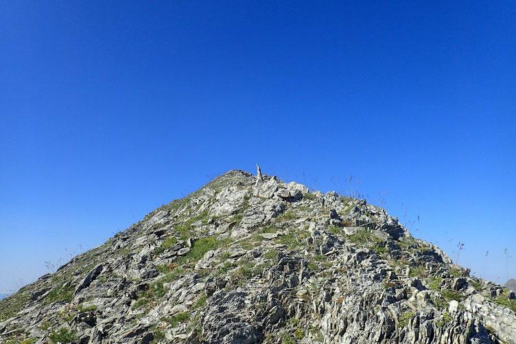 A l'approche du sommet.