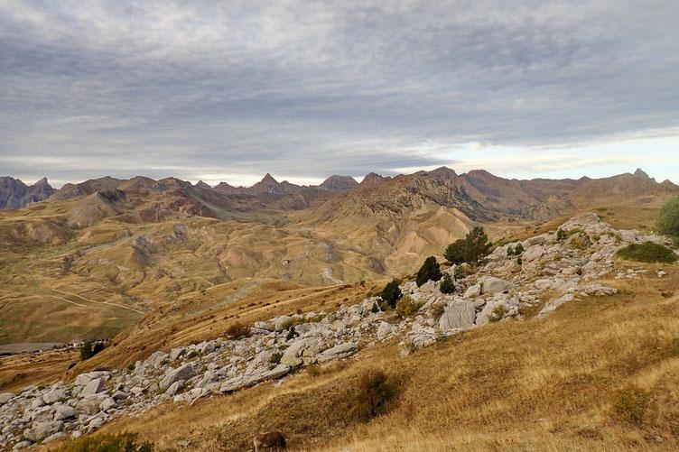 Belle vue sur les pyrénées espagnoles avec la Punta Escarra et la Pala de Ip
