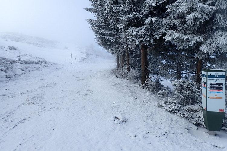 Je repart en pleine brume... et comme il n'ya plus de soleil, la petite brise est glaciale.