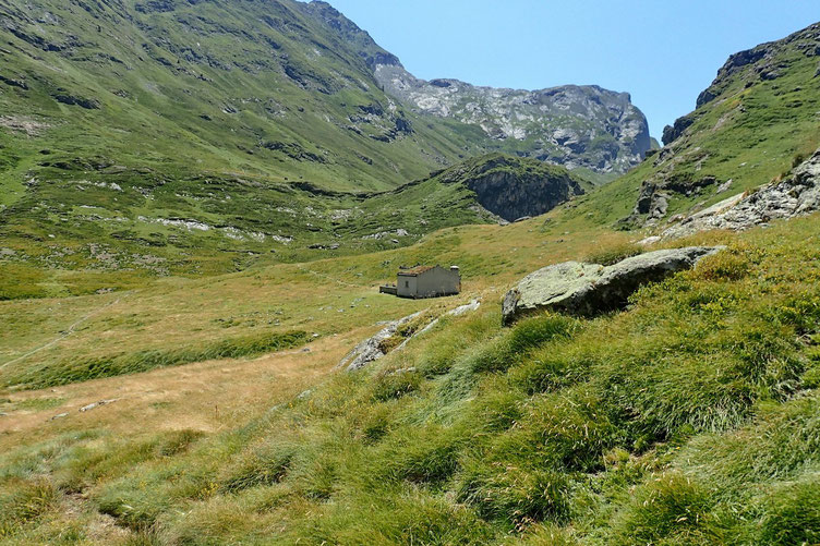 Arrivée à la Cabane de Lourdes.